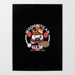 Meowscular Gym Poster
