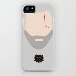 Minimalist Geralt of Rivea - The Witcher iPhone Case