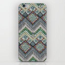 beaded chevron platinum iPhone Skin
