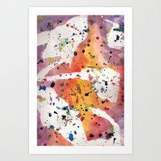 splatter Art Print