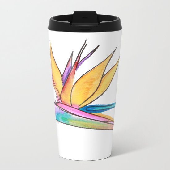 Oiseau du paradis Metal Travel Mug