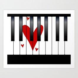 Love Piano Art Print