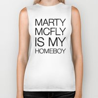 marty mcfly Biker Tanks featuring Marty Mcfly is my homeboy by Design Vultures