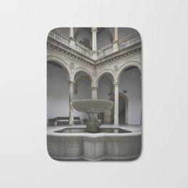 Spanish Patio with Moorish Fountain Bath Mat