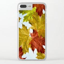 Autumn Leaf Brite Clear iPhone Case