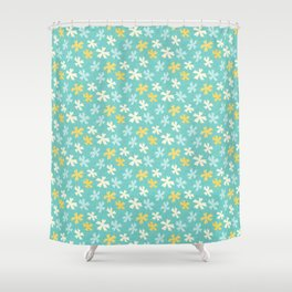 Hana Thyme - Yellow And Teal Shower Curtain