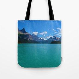 """Hall of Gods"" Maligne Lake in Jasper National Park, Canada Tote Bag"
