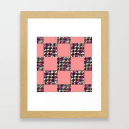Checker Disco Framed Art Print