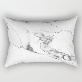 White Marble I Rectangular Pillow