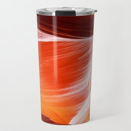Sandstone abstract textures at Antelope Canyon Travel Mug