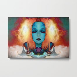 My fire will always burn bright Metal Print