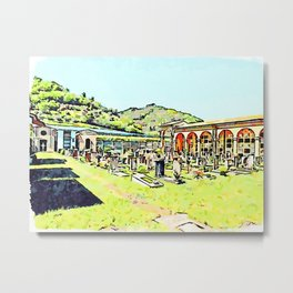 Fognano: cemetery Metal Print