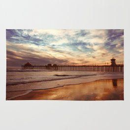 Autumn Beach Relections Rug
