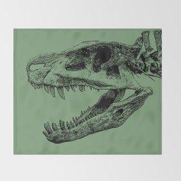 Postosuchus Skull II Throw Blanket