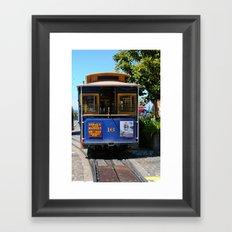 Trolley Car Framed Art Print