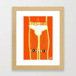 Eyes on Knees Framed Art Print