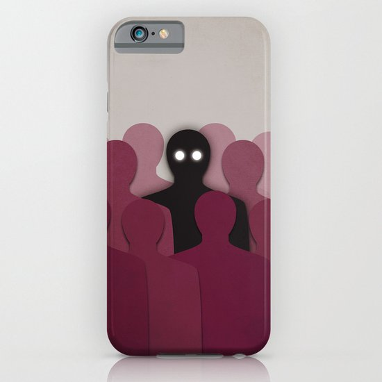 Different And Alone In Crowd iPhone & iPod Case