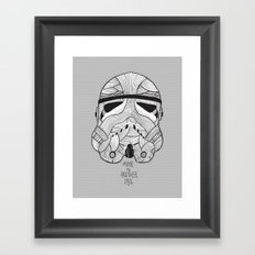 Stormtrooper: Another Drill (grey) Framed Art Print