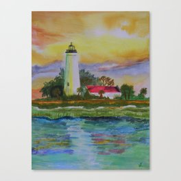 St.Marks Lighthouse Canvas Print