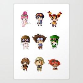 Chibi Goggles Art Print