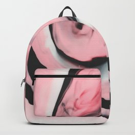 Modern pink marble and black Backpack