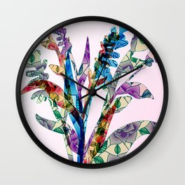 Deco Leafs II Wall Clock
