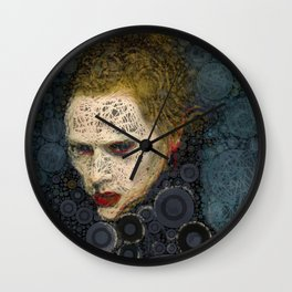 RITRATTO in blu Wall Clock