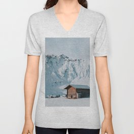 Hello Winter - Landscape and Nature Photography Unisex V-Neck
