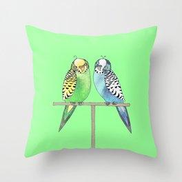 budgerigars Throw Pillow
