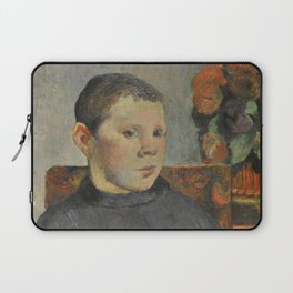 "Paul Gauguin - Clovis, portrait of the artist's son ""Le Liseur"" (1886) Laptop Sleeve"