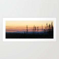 Forest Fire Sunset Art Print
