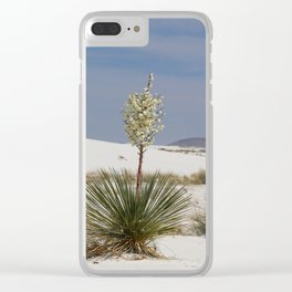 White Sands Soap Yucca Clear iPhone Case