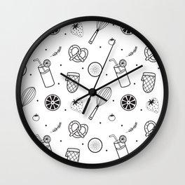 Modern Juice Pattern Wall Clock