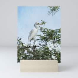 Cattle Egret In a Tree Mini Art Print