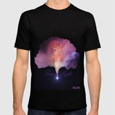 Tree of Light Mens Fitted Tee Black SMALL