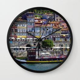 Porto houses, Portugal Wall Clock