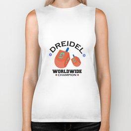 Dreidel Worldwide Champion Cute Hanukkah Biker Tank