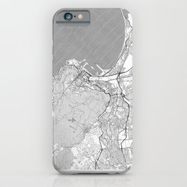 Cape Town Map Line iPhone Case
