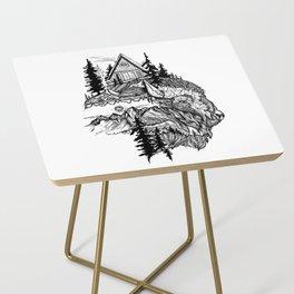 White Buffalo Side Table