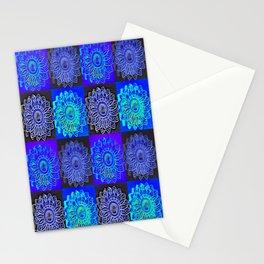 Many Blue Stars Stationery Cards