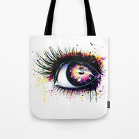 "pixies Tote Bags featuring ""Follow me into wonderland"" by PeeGeeArts"