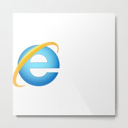 Extinct IE Logo Metal Print