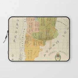 Vintage Map of Argentina (1918) Laptop Sleeve