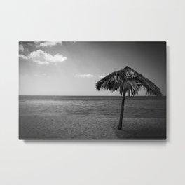 Caribean beach b&w Metal Print
