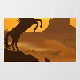 Freedom for the black stallion Rug