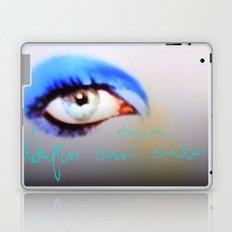 bowie: like dolphins can swim Laptop & iPad Skin