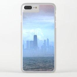Foggy Skyline #21 Clear iPhone Case
