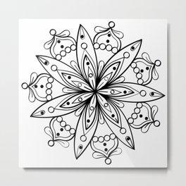 star flower mandala Metal Print