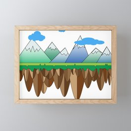 Floating Islands Framed Mini Art Print