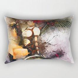 Aircraft Girl Rectangular Pillow